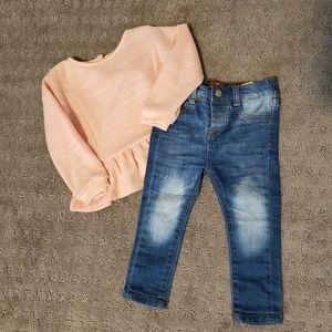 7 For All Mankind toddler set